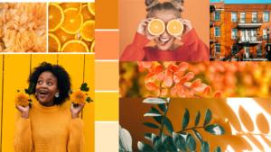 Mood board orange - couleurs estivales