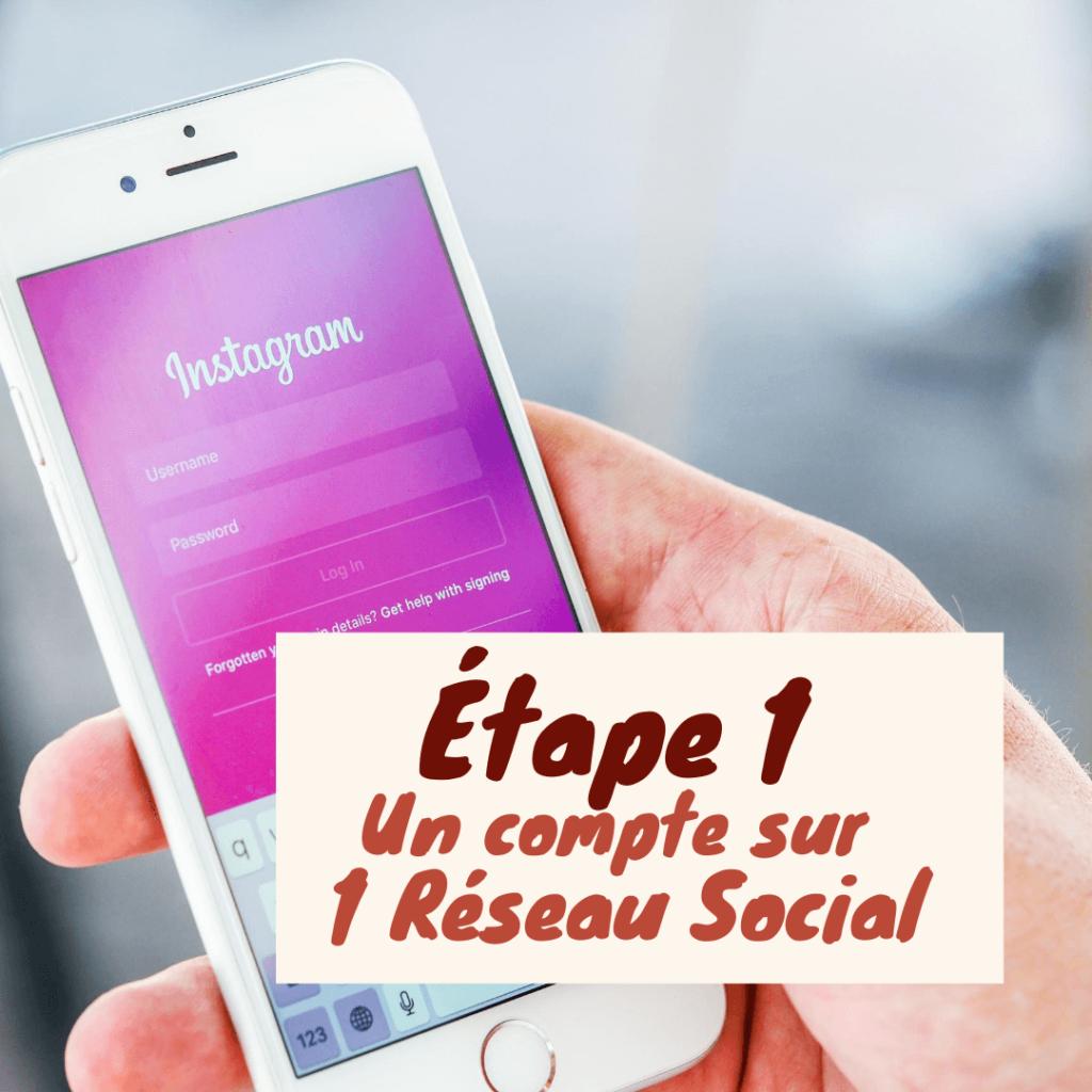 Compte sur un réseau social ou Instagram