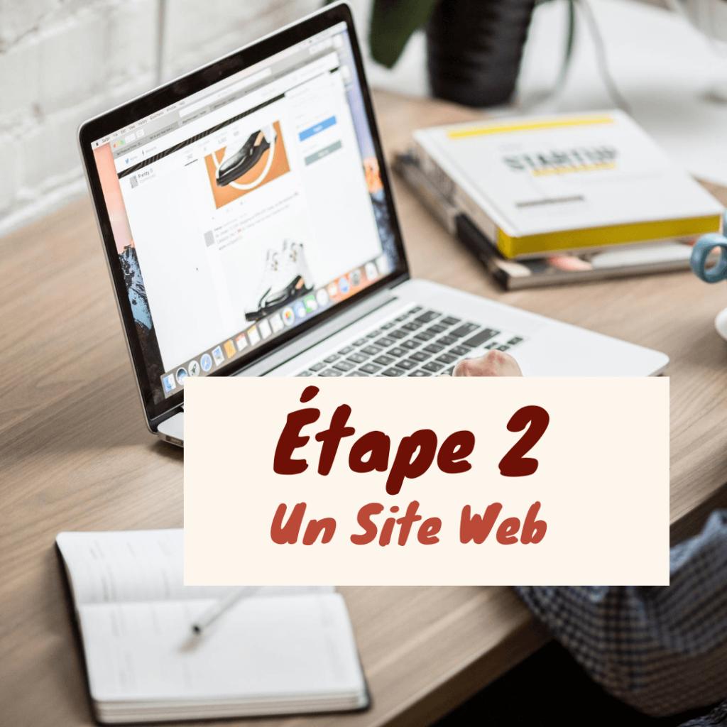 Etape2: site web