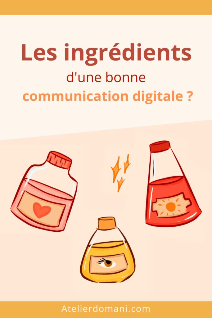 Epingle Pinterest - ingrédients communication digitale