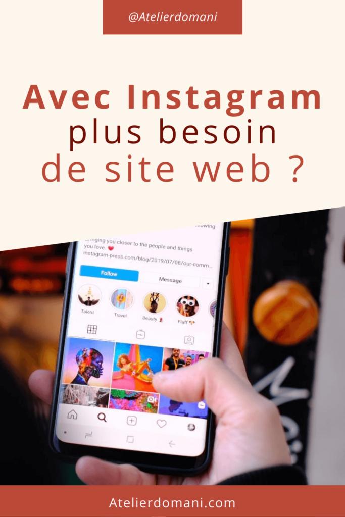 épingle pinterest Avec Instagram plus besoin de site internet