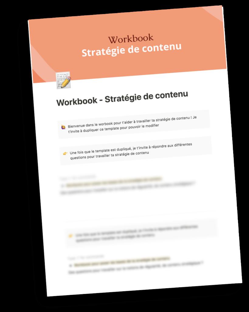 Workbook pour travailler ta stratégie de contenu